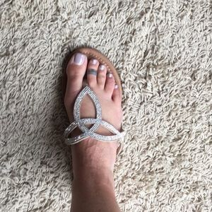Cute and simple.  Rhinestone sandals. Size 7